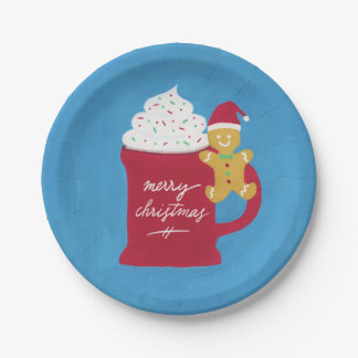 A Cup of Merry Christmas Paper Plate