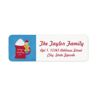 A Cup of Merry Christmas Return Address Label