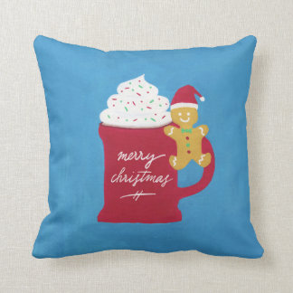 A Cup of Merry Christmas Throw Pillow