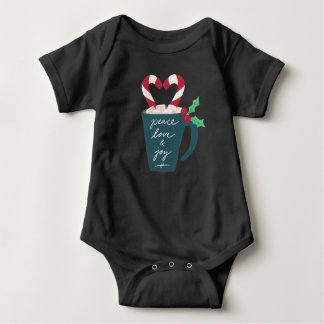 A Cup of Peace, Love and Joy Baby Bodysuit