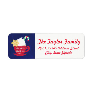A Cup of 'Tis The Season Return Address Label