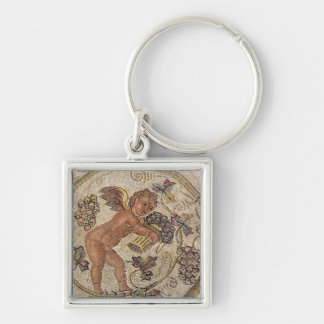 A cupid picking grapes, fragment of pavement key chains