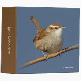 A Curious Bewick's Wren in the Tree 3 Ring Binders