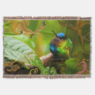 A Curious Little Bird. Throw Blanket