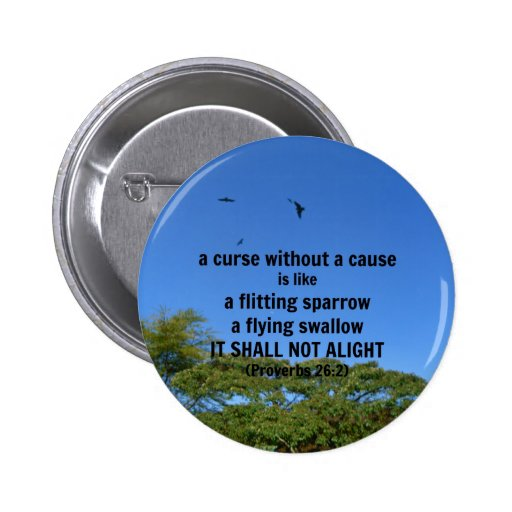 A curse without a cause pinback buttons