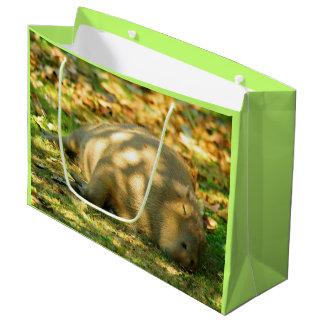 A Cute Capybara Dreams in the Summer Sun Large Gift Bag