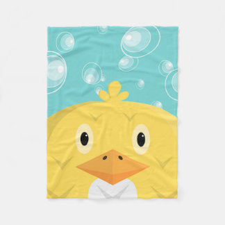 A Cute Chick Holding Its Breath Under Water Fleece Blanket