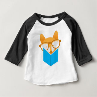 a cute fox reading baby T-Shirt