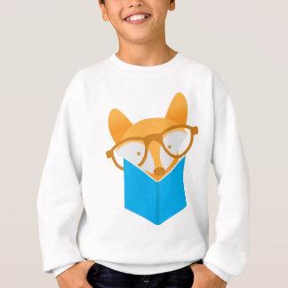 a cute fox reading sweatshirt