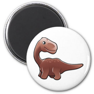 A cute friendly diplodocus dinosaur magnet