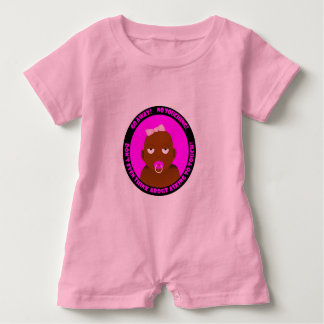 A cute, funny, baby girl baby romper