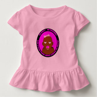 A cute, funny, baby girl toddler t-shirt