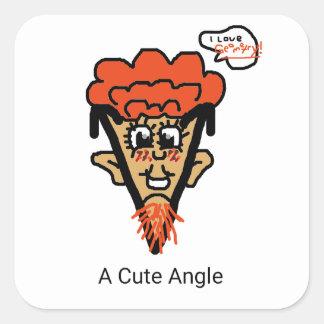 A Cute Geek Pun Square Sticker