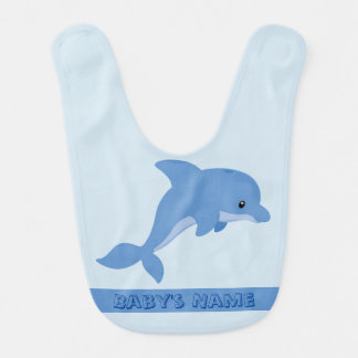 A Cute Happy Dolphin Bib