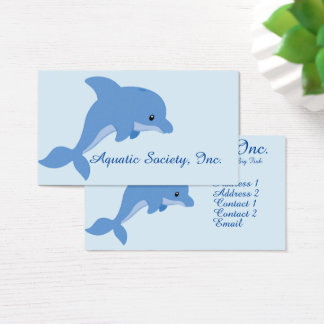 A Cute Happy Dolphin Business Card