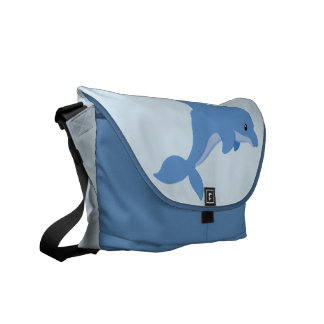 A Cute Happy Dolphin Courier Bag