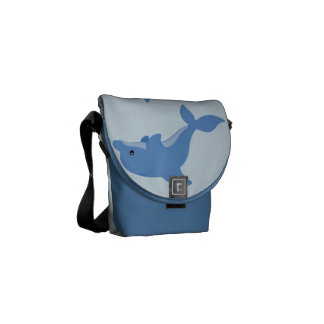 A Cute Happy Dolphin Messenger Bag