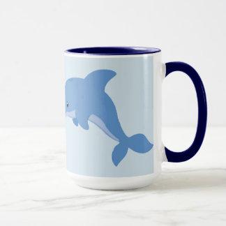 A Cute Happy Dolphin Mug