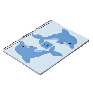 A Cute Happy Dolphin Notebook