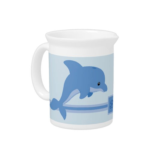 A Cute Happy Dolphin Pitcher