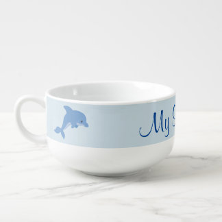 A Cute Happy Dolphin Soup Mug