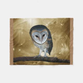 A Cute little Barn Owl fantasy Fleece Blanket