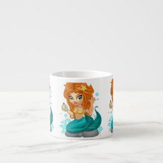 A Cute little mermaid and a compass