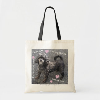 A Cute Little, Spoiled Dog Tote Bag