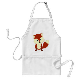 A cute red fox aprons
