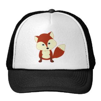 A cute red fox trucker hats