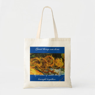 A cute Sunflowers Motive bag perfect for shopping.