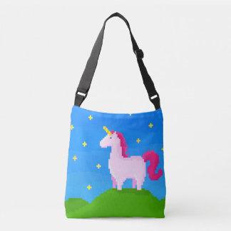 A cute unicorn on the hill crossbody bag
