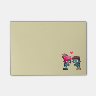 A Cute Zombie Couple Illustration Post-it® Notes