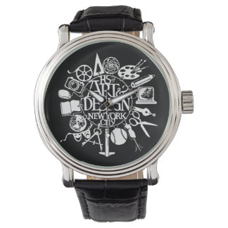 A&D Charm Watch Custom Classic Black Leather