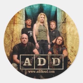 A.D.D. Sticker-round Classic Round Sticker