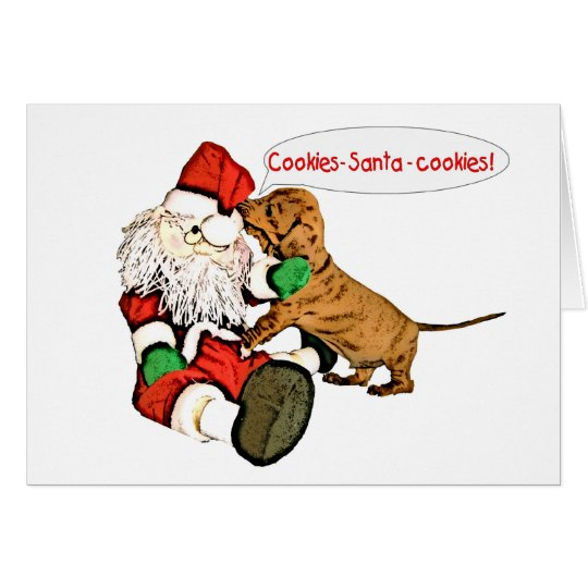 A Dachshund Christmas wish Card