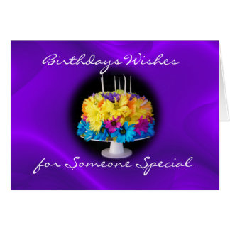 A Daisy Birthday Cake card- customize Card