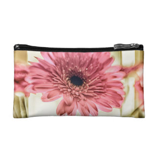 A Daisy for You a pink daisy digital photograph Cosmetic Bags