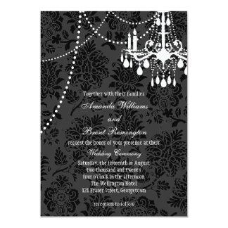 A Damask Victorian Wedding Invitation 2