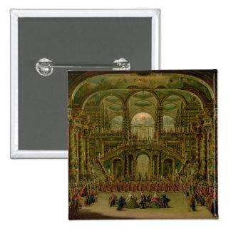 A Dance in a Baroque Rococo Palace 2 Inch Square Button
