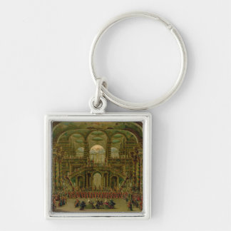 A Dance in a Baroque Rococo Palace Keychain