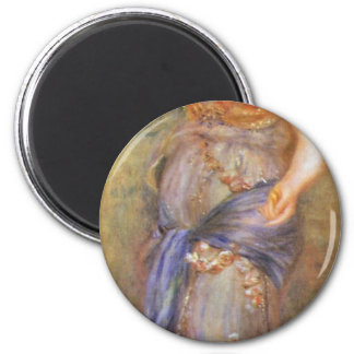 A Dancer With Castanets By Pierre-Auguste Renoir ( 2 Inch Round Magnet