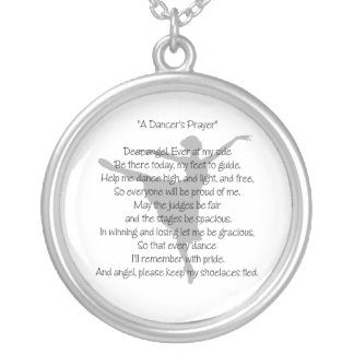 A Dancer's Prayer Necklace
