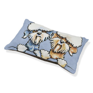 A Dandie Pair Small Dog Bed