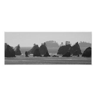 A Dark Coastline. Photo Print