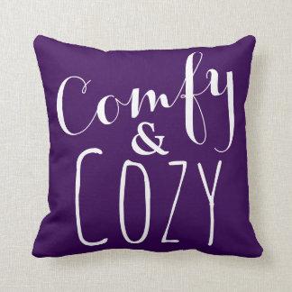 A Dark Purple Comfy Throw Pillow - Cozy Home Decor
