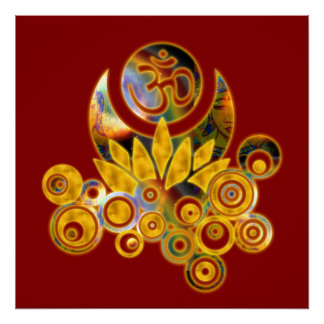 A_darkred, Om Lotus Poster