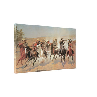 A Dash for the Timber, 1889 Canvas Print