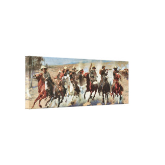 A Dash for the Timber c. 1889 Remington Fine Art Canvas Print
