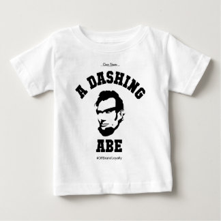 A Dashing Abe BLK Logo Baby T-Shirt